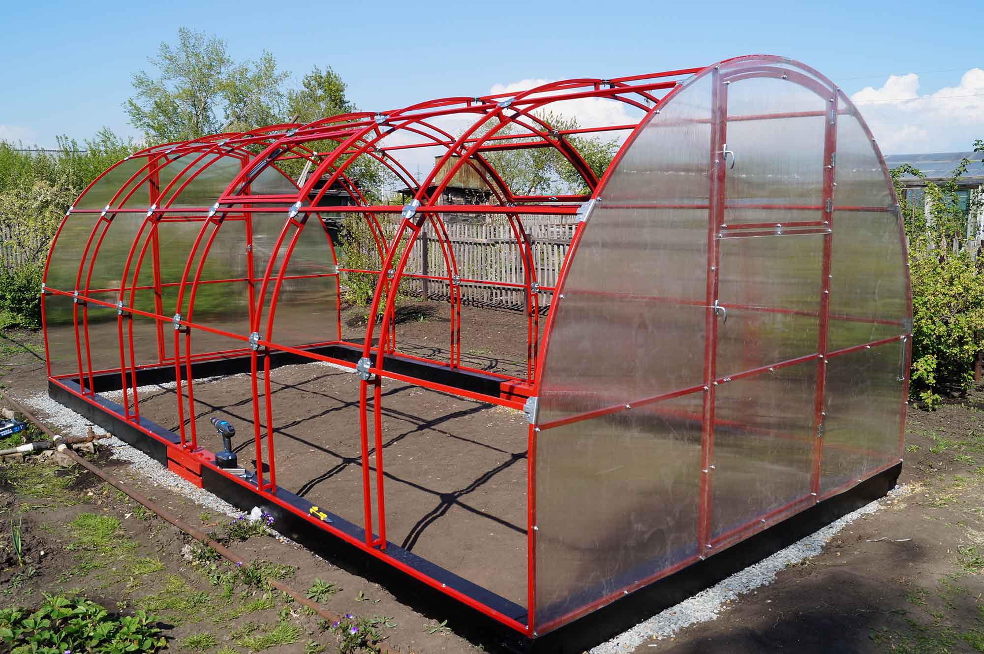 Каркас для тепличной конструкции с поликарбонатным покрытием
